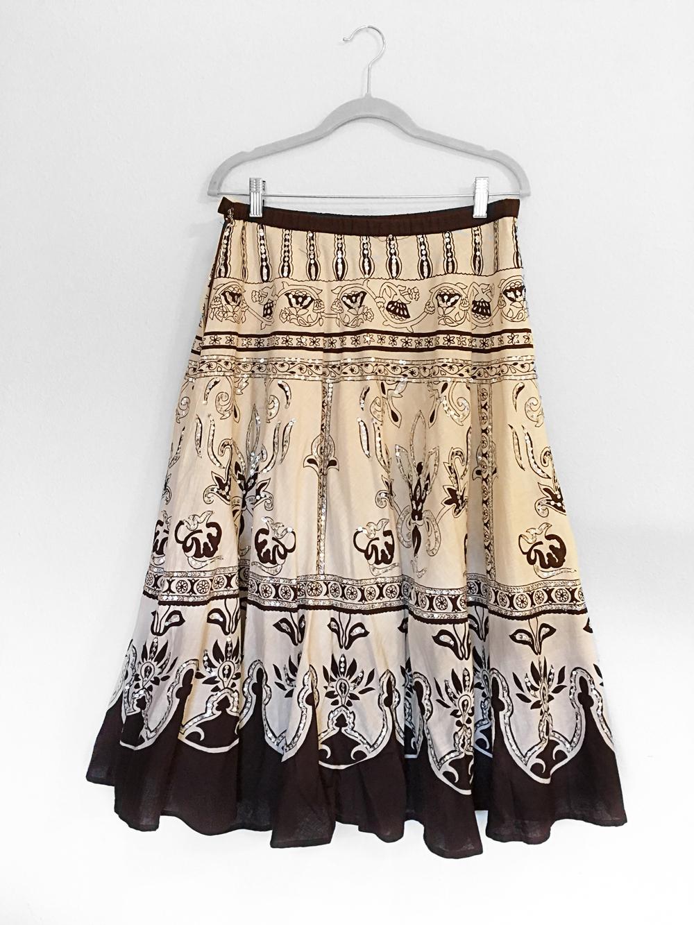 Bohemian Skirt - Brown