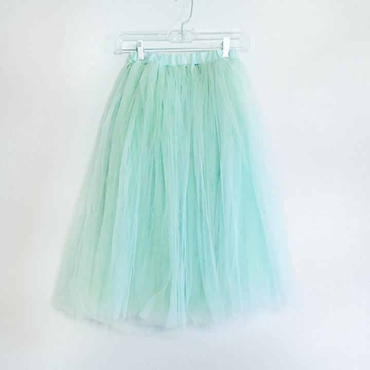 Skirt - Mint Tulle