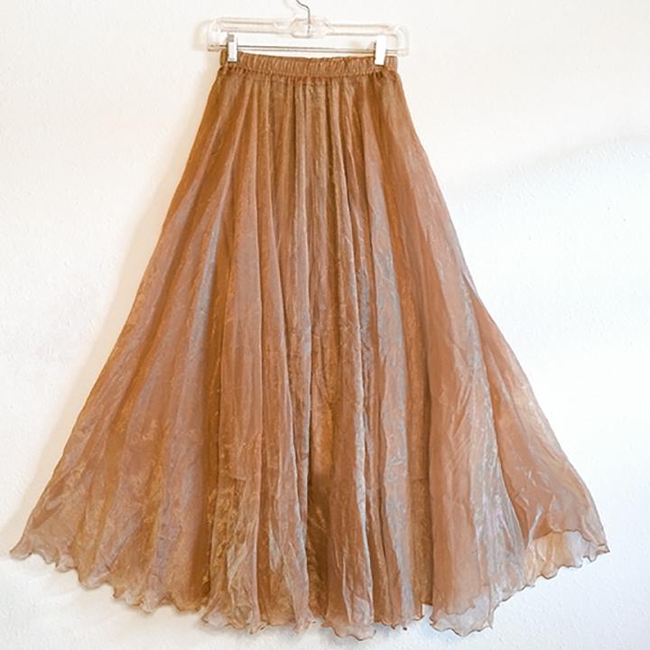 Skirt - Gold Crepe