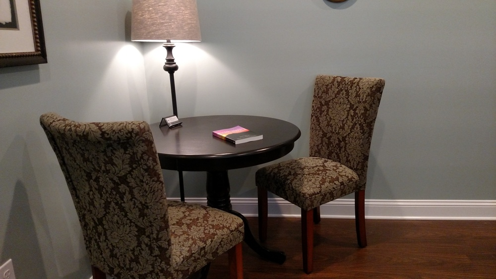 Stay dressed & speak with Dr. Carlson in her private office before your exam.