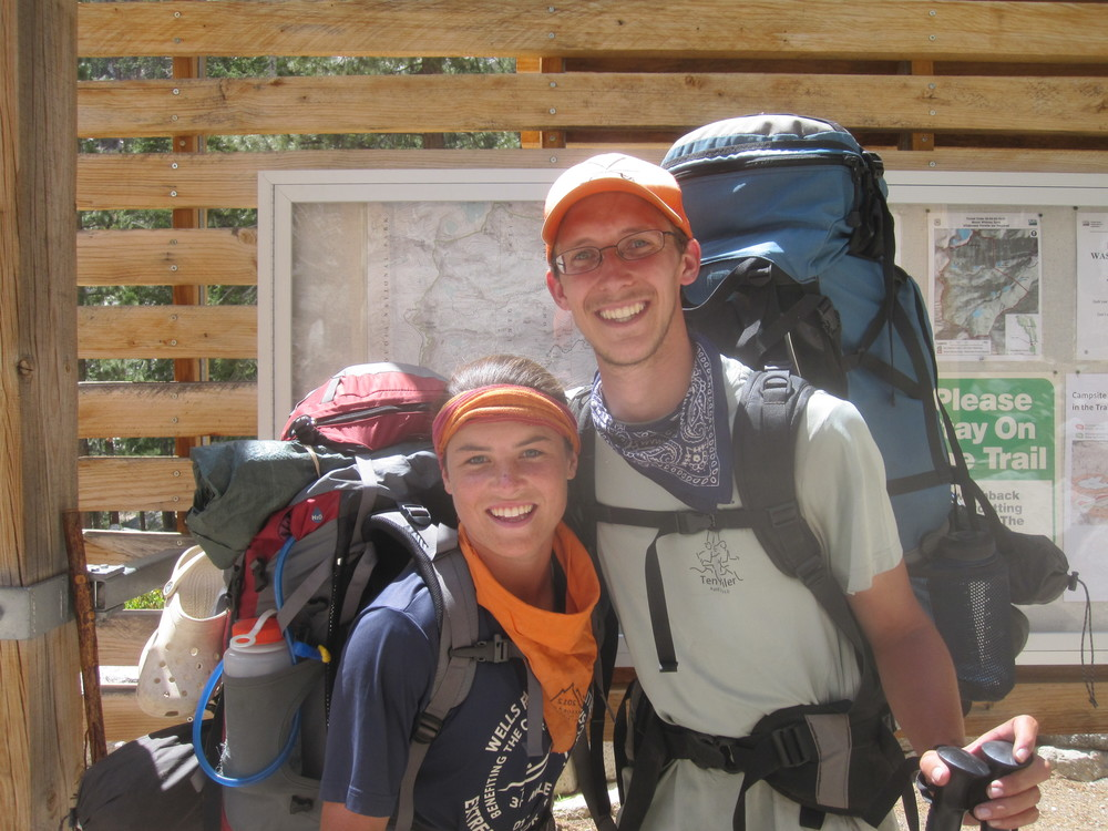 Shannon and I after completing the John Muir Trail