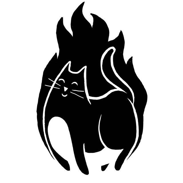 Phoenix the cat #cat #pheonix #sketch #illustration #drawing #art #instaart #stencil #blackwork #blackandwhite #simpletattoo #silly #dumb #stupid #🔥