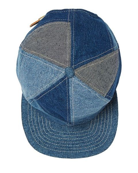 Online store is officially up!! Here's our Patchwork Denim ball cap, made from repurposed denim. Each cap is unique, and no two are alike.  #albumquilts #vintagedenim #nevernotmaking
