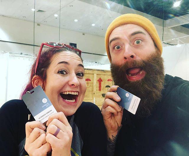 We. Have. Arrived!!! Got our badges, in our Booth #906 & our #LAartShow2019 install begins!! . . . @laartshow #laartshow