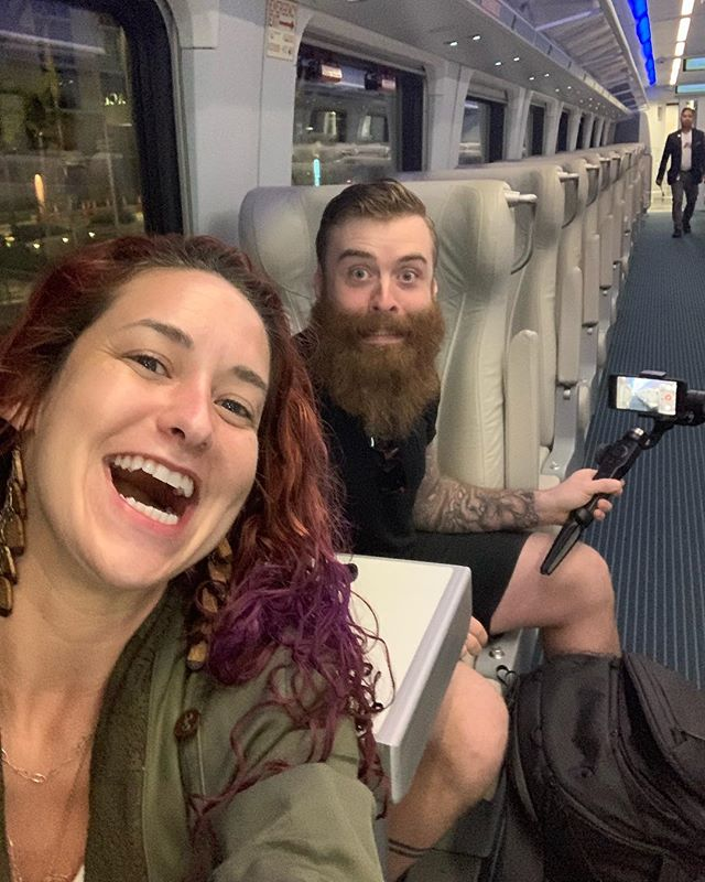 We're on the new #brightline train, headed to Miami for the day!! We'll be following-up with galleries met at our recent LA & Palm Beach shows, doing a little photography, & taking in all the amazing art and design that Miami has to offer! . @WynwoodMiami @MiamiDesignDistrict #WynwoodArtDistrict #Miami #MiamiDesignDistrict #ArtistsInTransport