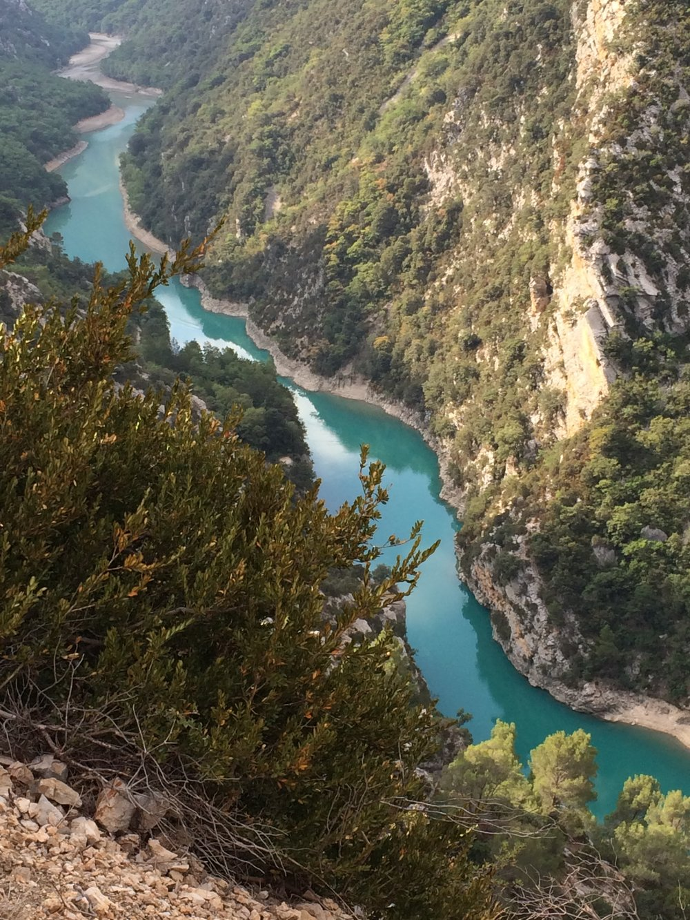 The awesome Gorges du Verdon. View from one of our cycling routes.