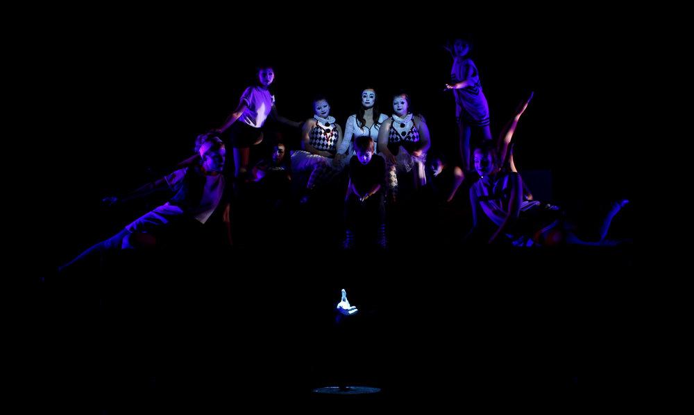Understudy Jessica Soza as Evie/Anya/Ilse/Ginnie