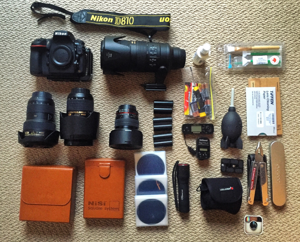The equipment for the journey.