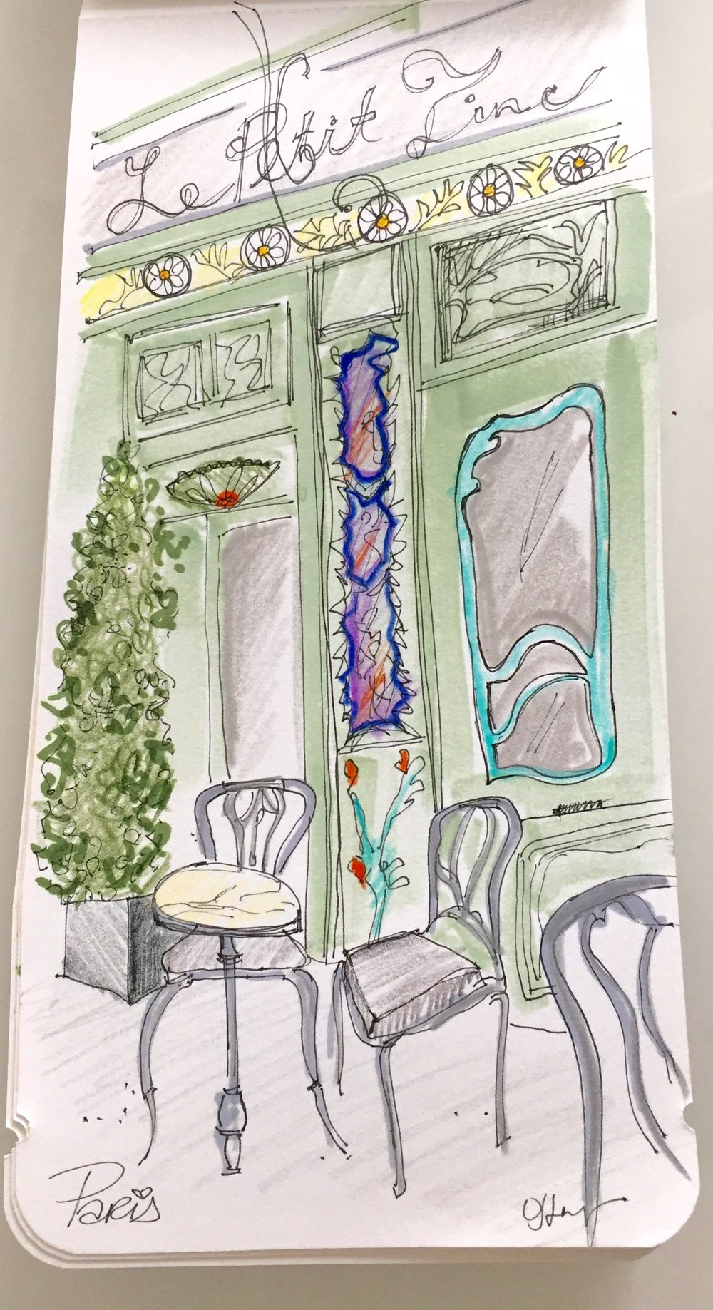 An 'art nouveau' style cafe in Paris from our pit stop there over four years ago.
