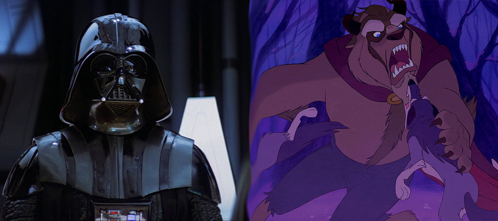 Screenshots from Star Wars and Beauty & The Beast (geekdomhouse.com)