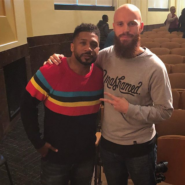 Shook hands and said whatsup to @datruthonduty today! He preached an awesome sermon at @thecitykc. For those who don't know, we got a song together as well 👀🙌🙏