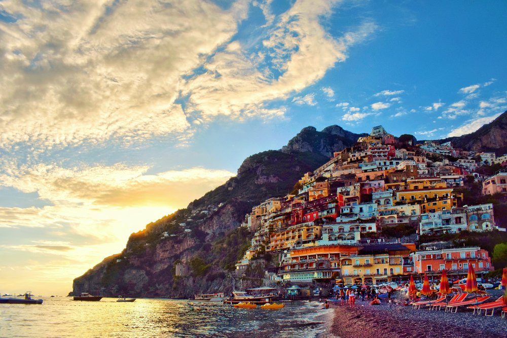 Sunset-in-Positano-Brown-Leather-Book