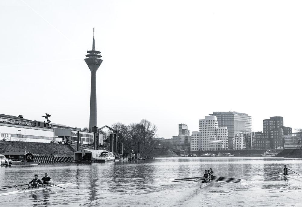 Medienhafen with Ruderclub Germania, Düsseldorf