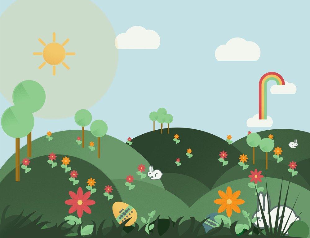 Spring Icon Landscape