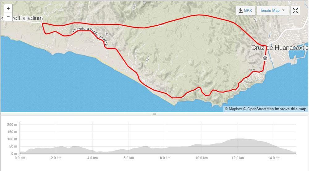 VElo bike time trial route - december 3, 2016