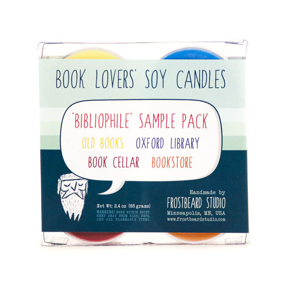 BOOKLOVERS' SOY CANDLE di Frostbeard