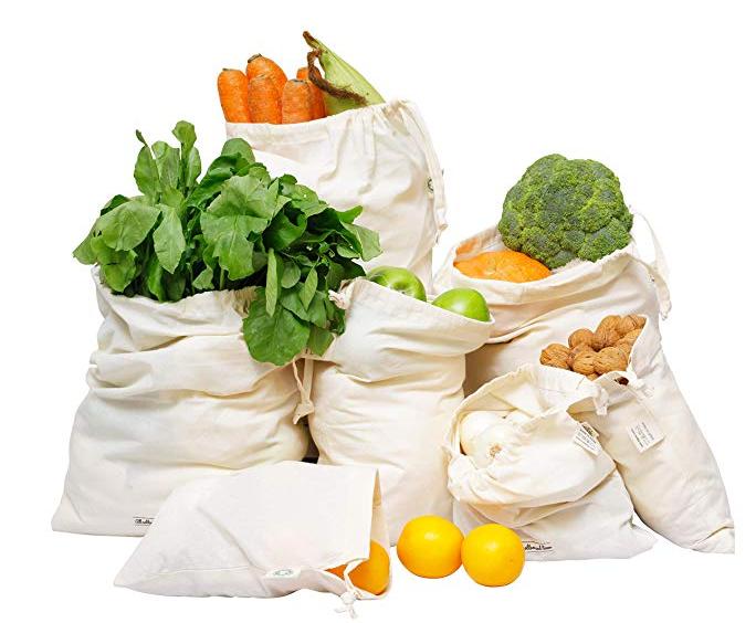 Zero Waste Shopping Muslin Bags