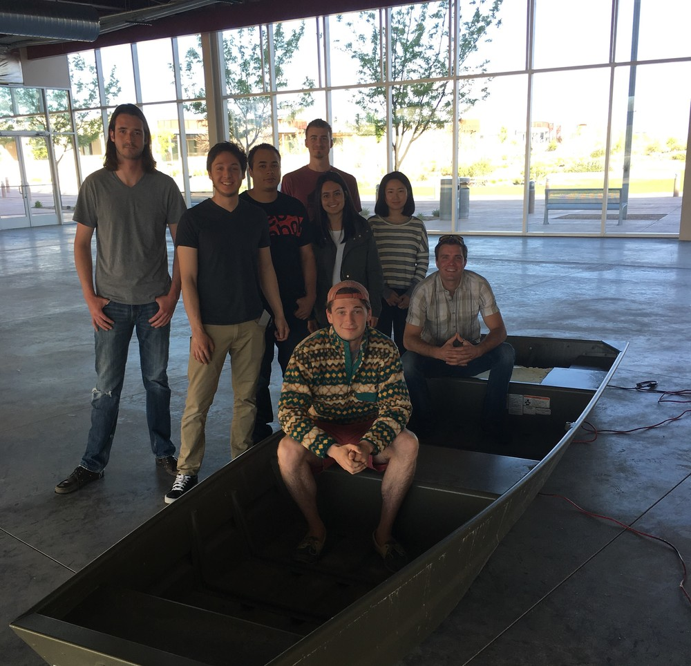 2016 Solar Splash Team visiting the newly acquired buildspace