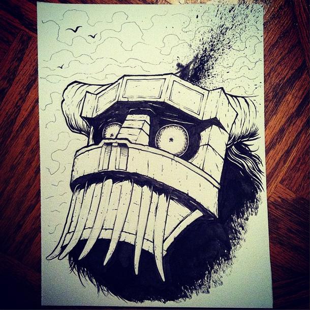7 - Colossus (2) #inktober