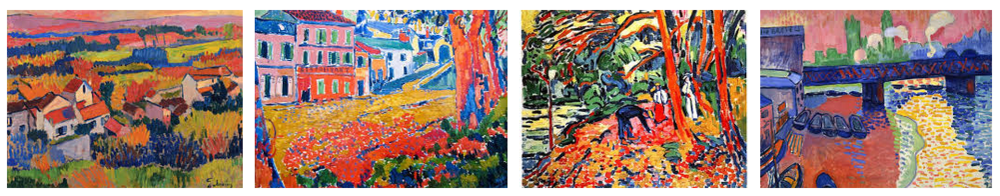 Common reasons to appraise artwork, four paintings by french fauve artists