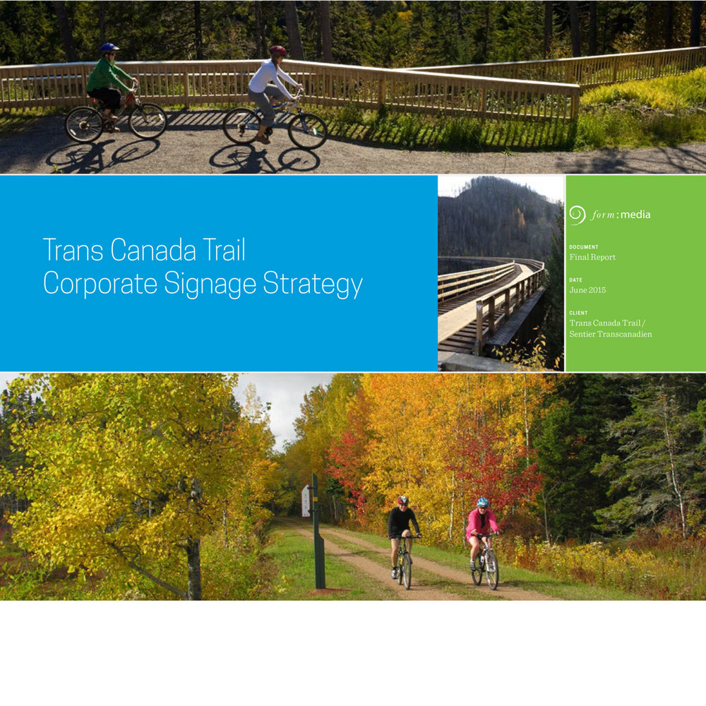 Trans Canada Trail Signage Strategy