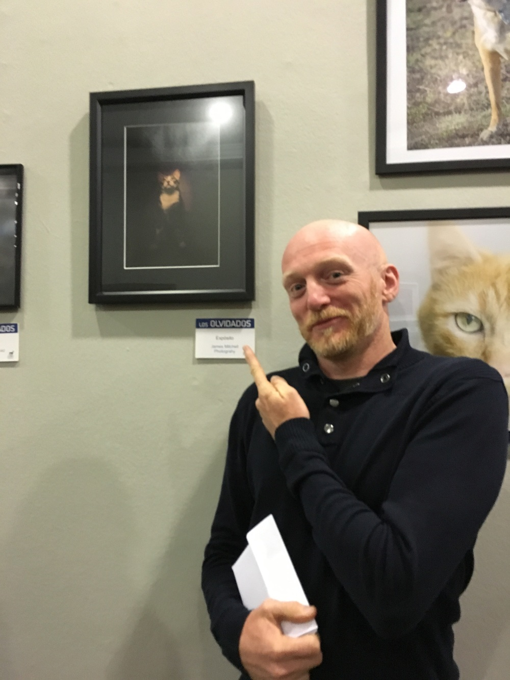 At the exhibition with my portrait of 'Expósito'