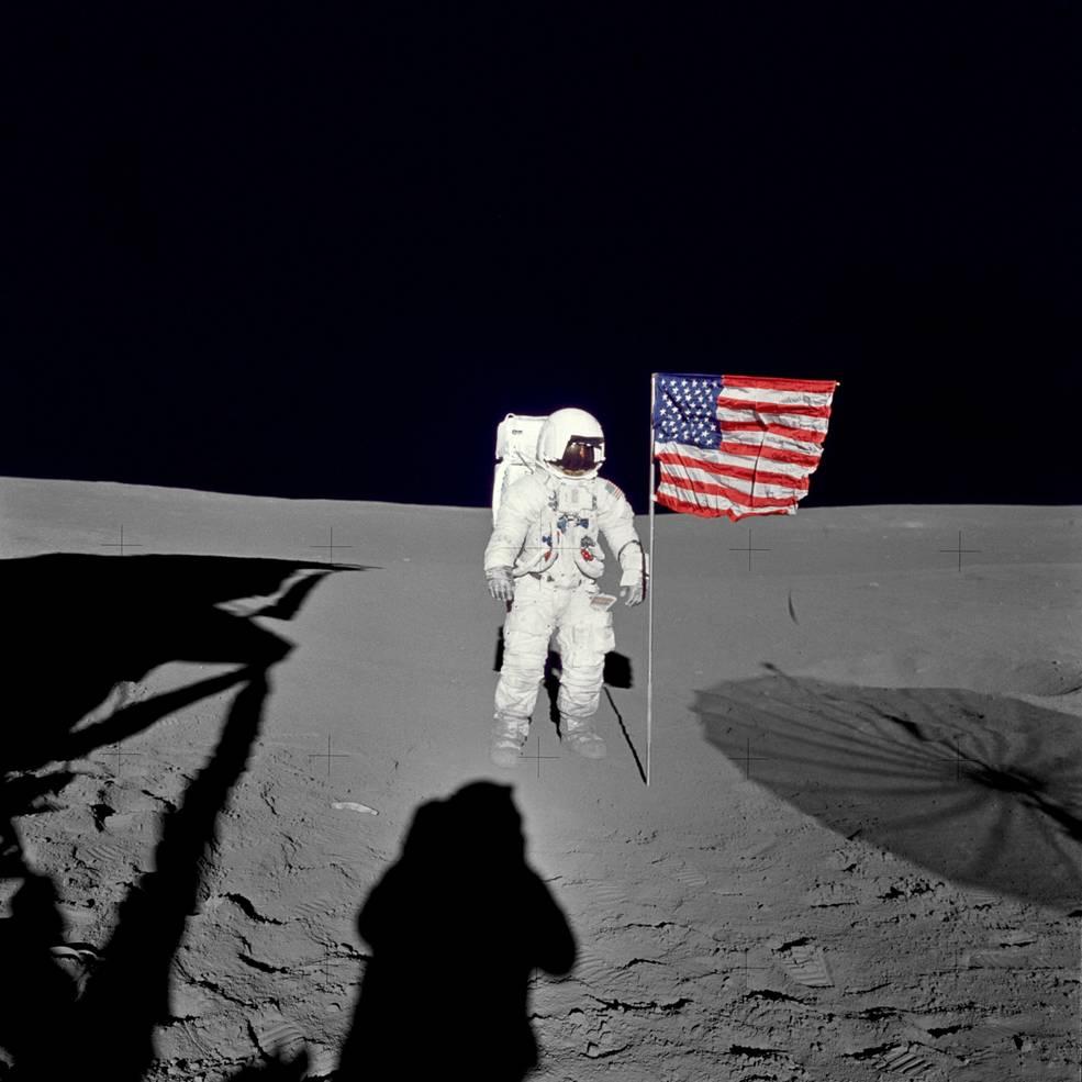 Edgar Mitchell sur la lune