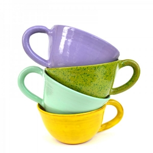 Clay coffee mugs from Elisha C.