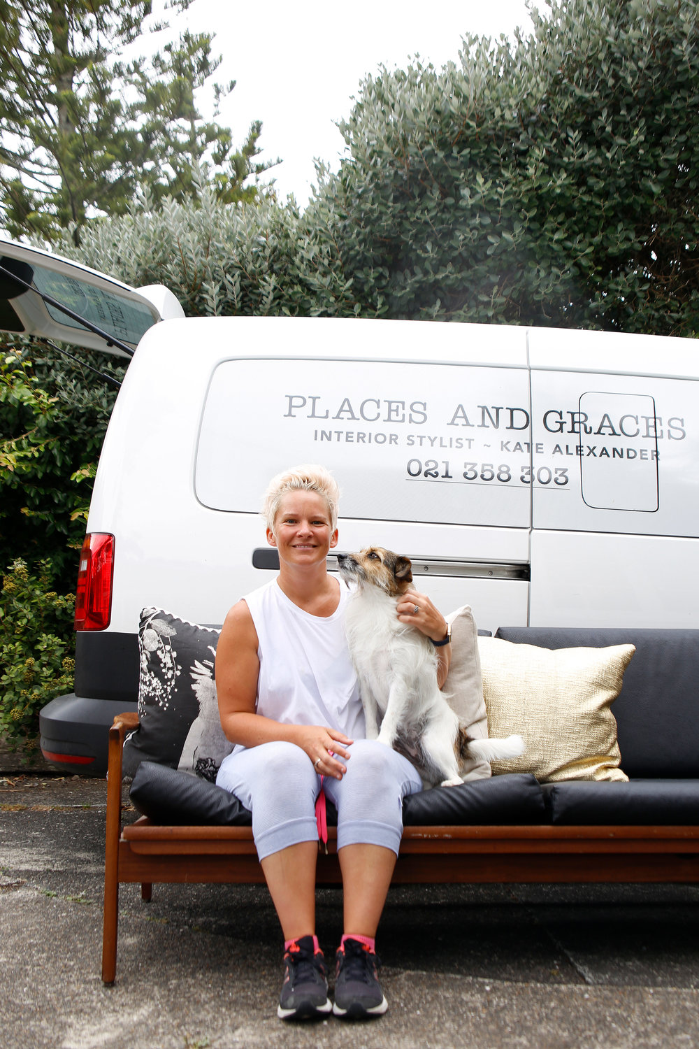 Meet the Crew - This is me, Kate. Places and Graces' head stylist. And that's Mindy my Jack Russell and favourite sidekick. Thanks to the epic team at Tristram European we cruise to work in our Caddy Crewvan. It is the absolute perfect for the life of stylist.Tristram European is a privately-owned Volkswagen and Skoda dealership on Auckland's North Shore. They provide both passenger and commercial vehicles and have a dedicated Service and Parts department. I rate their service, knowledge and genuine interest in my vehicle needs...even for a car novice like me : )Check out our Caddy Crew adventures below and follow us on instagram for more