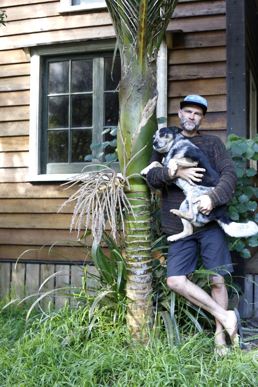 James Johnston and his dog Rusty