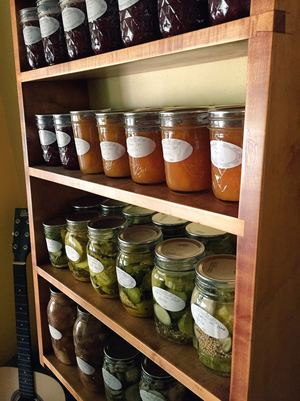 One of our canning shelves