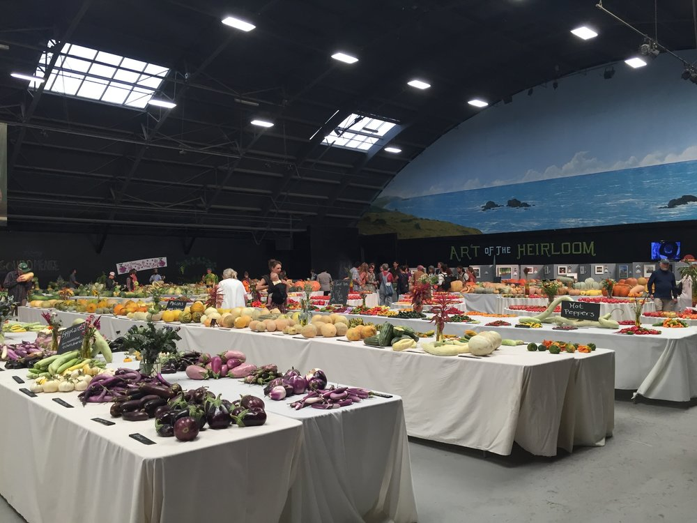 The highlight, in my opinion: The Hall of Heirlooms, where every kind of fruit and vegetable heirloom was laid out and labeled, and could be properly admired