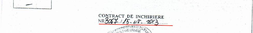 CONTRACT INCHIRIERE 3067, STR. SCULTORILOR 57A