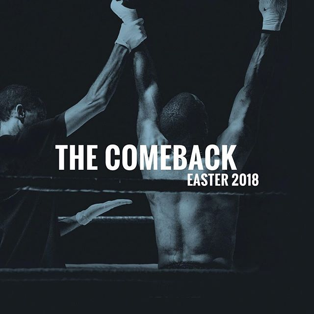 Fight for faith because he fought for us. Celebrate Jesus' victory with us this Easter Sunday. It's time to make your comeback. #easter #comeback #church #rva #grcoc #faith #worship
