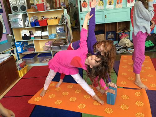 Kids yoga school classroom San Francisco