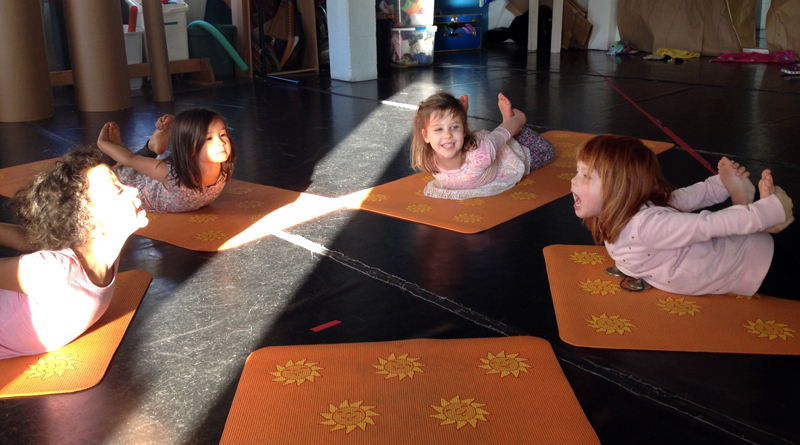 Kids yoga school classroom San Francisco