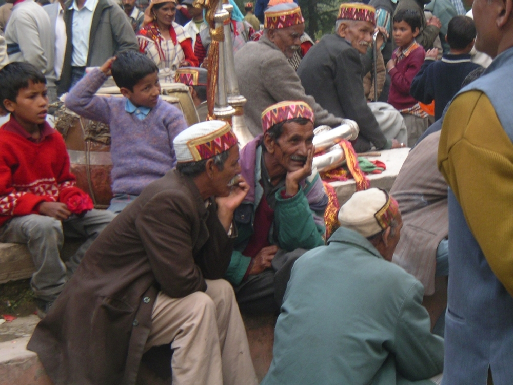 A mela in the mountains of Himachal Pradesh, India. No billiard balls here, just unpredictable interactions on an endlessly variegated surface.