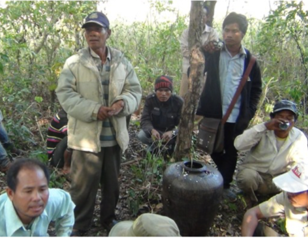 A group of indigenous Cambodians who now patrol their own forest, doing citizens arrests on illegal loggers. The NGO did not suggest this. They just worked on community processes for understanding changes happening around them and responding. ThIs is SELF organisation and, for me, beautiful development.