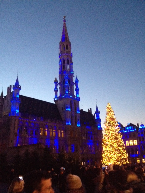 Brussels magical Grand Place last week. Beautiful yes, but better?