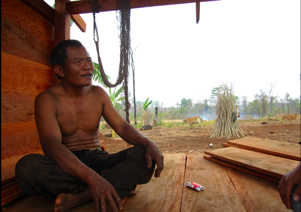 Life is getting better. Really! His ancestral forest lies as a smoking corpse around him and his community is in disarray- their language disappearing and children sniffing glue in town.. ..but the global market is flush with tropical hardwood, rubber and cashew nuts and this indigenous Cambodian lives on more than US$1.90/day.