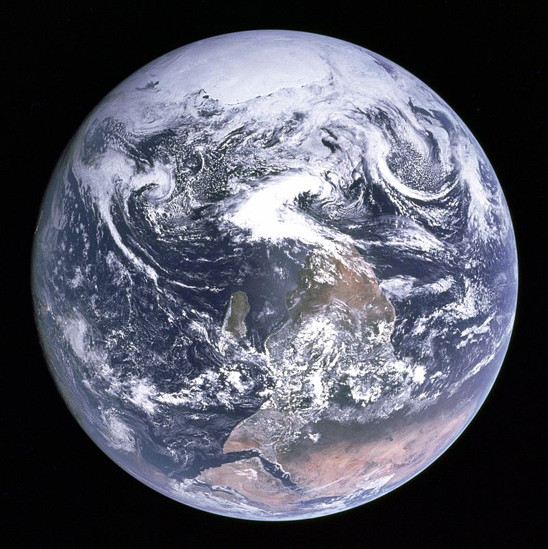 The Blue Marble from the classic 1972 photograph.