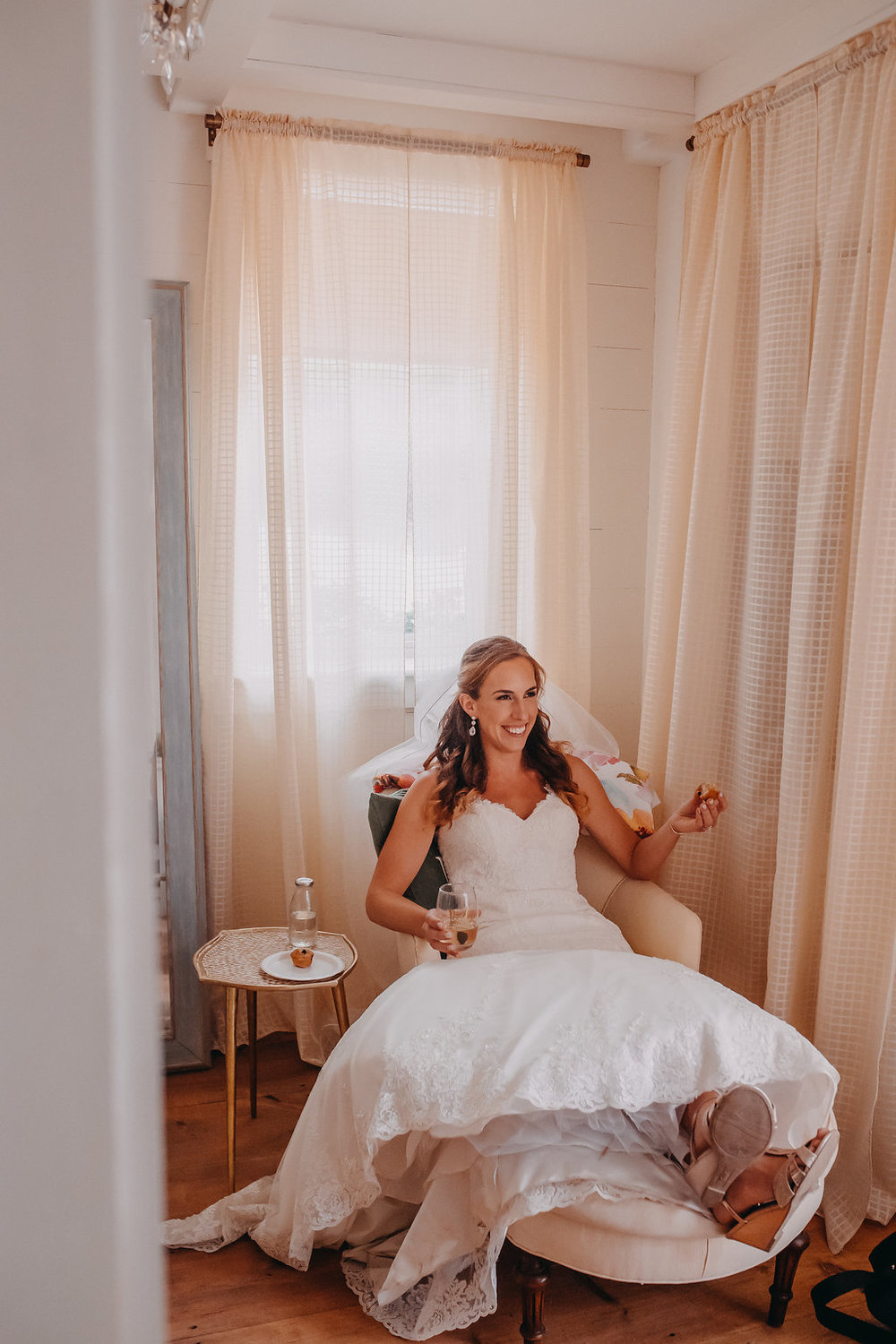 A relaxed bride is a happy bride!