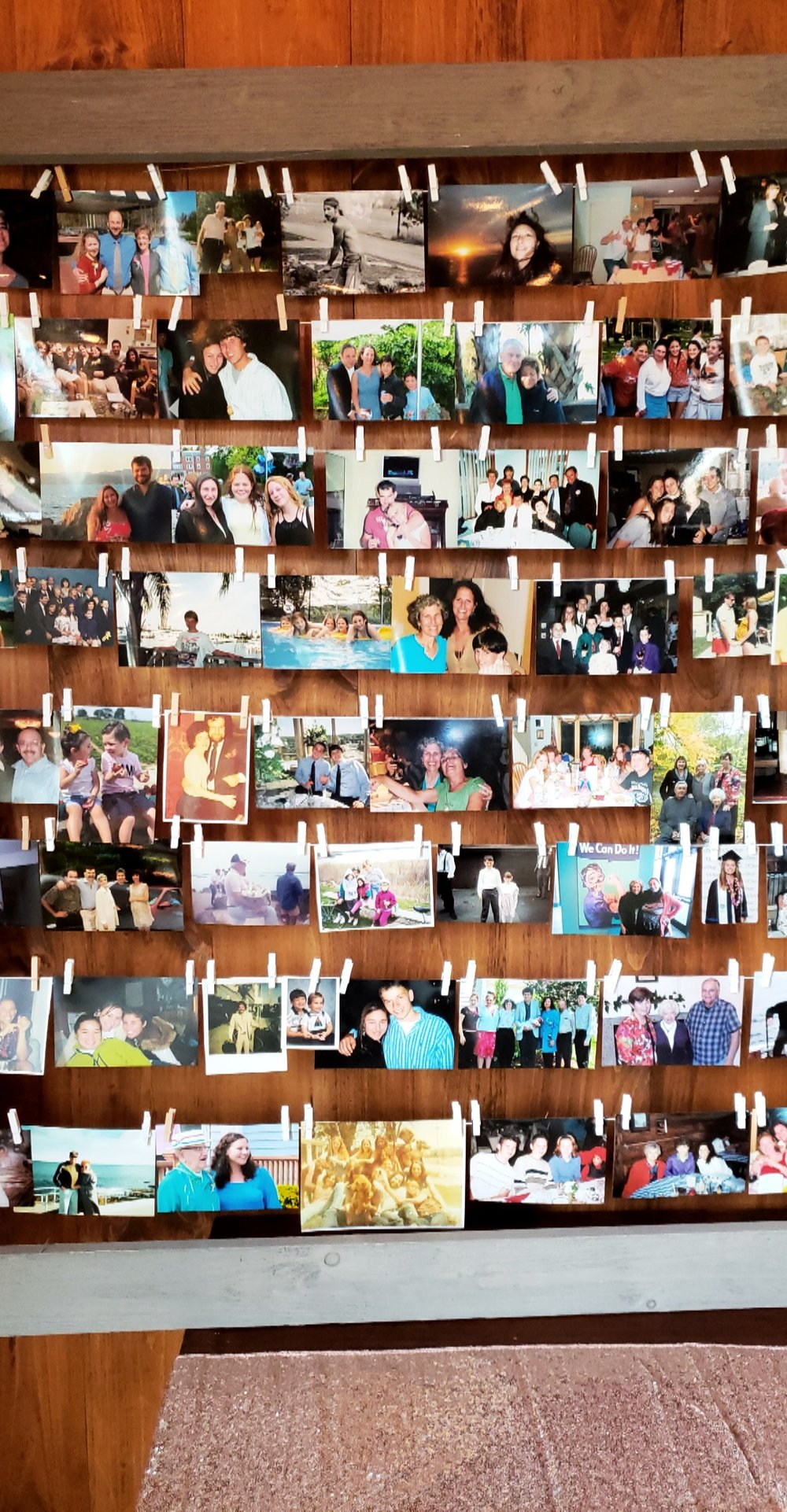 Photo collage that included family, friends, relatives, and lots of fantastic memories.