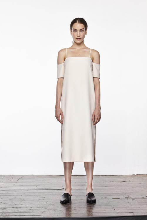 1d9f3d218f21 Crepe Cold Shoulder Slip Dress ...
