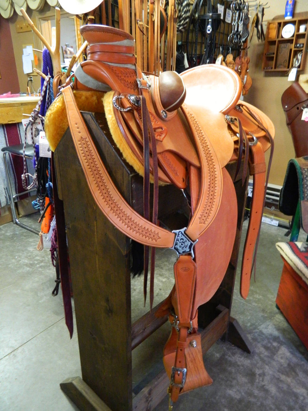 Custom Wade Saddle - Mike's R. Hunt