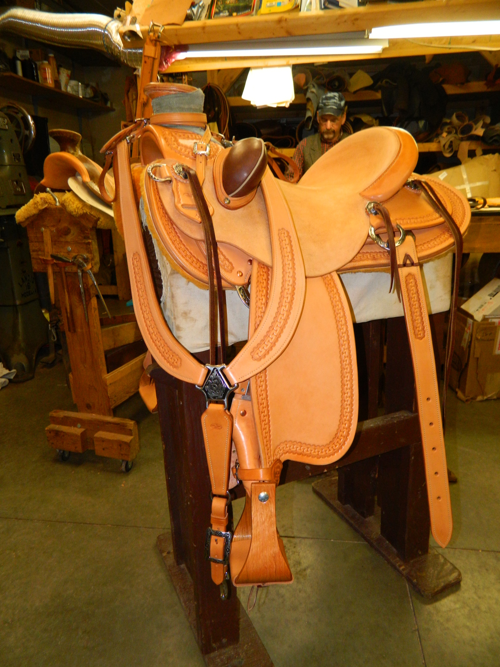 Custom Wade Saddle - Martingale