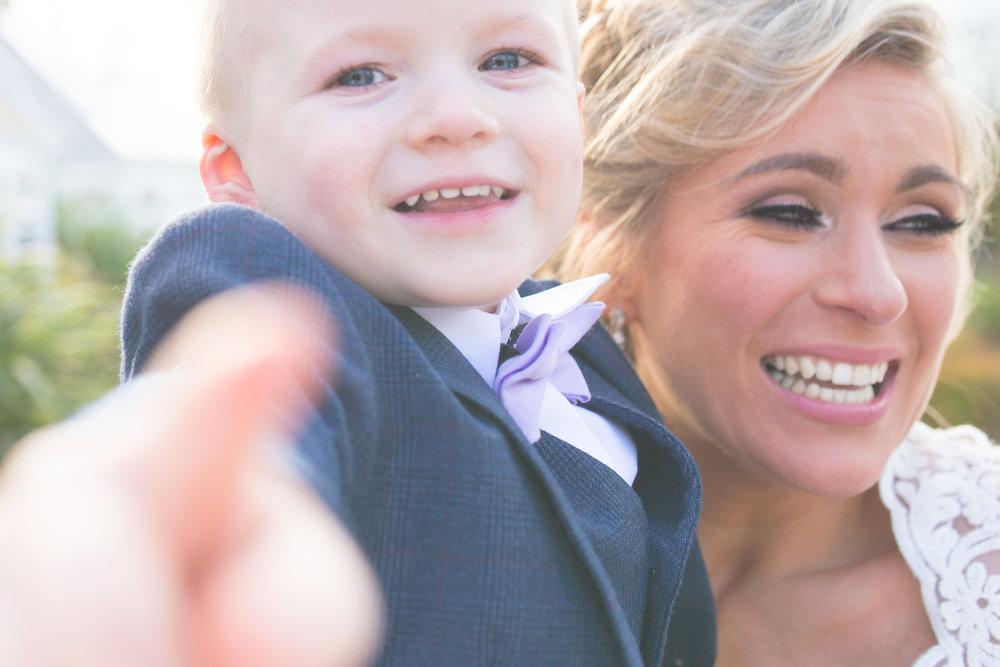 Tullyglass Wedding Photographer | Galgorm Wedding Photographer | Bride with son