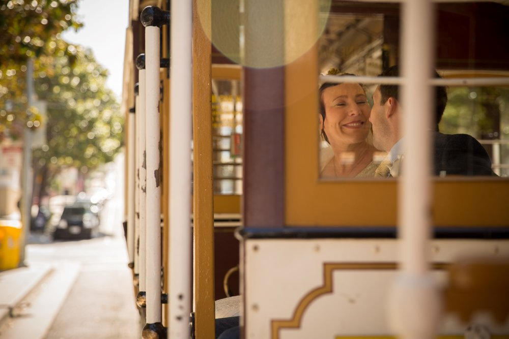 Cable Car Newlyweds :: Award-winning Wedding Photography by Michael Thomas