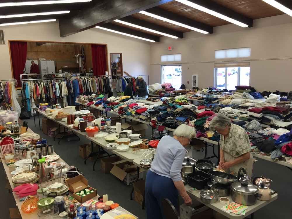 We have the best volunteers at BPC. They spend hours before each sale pricing and organizing items.