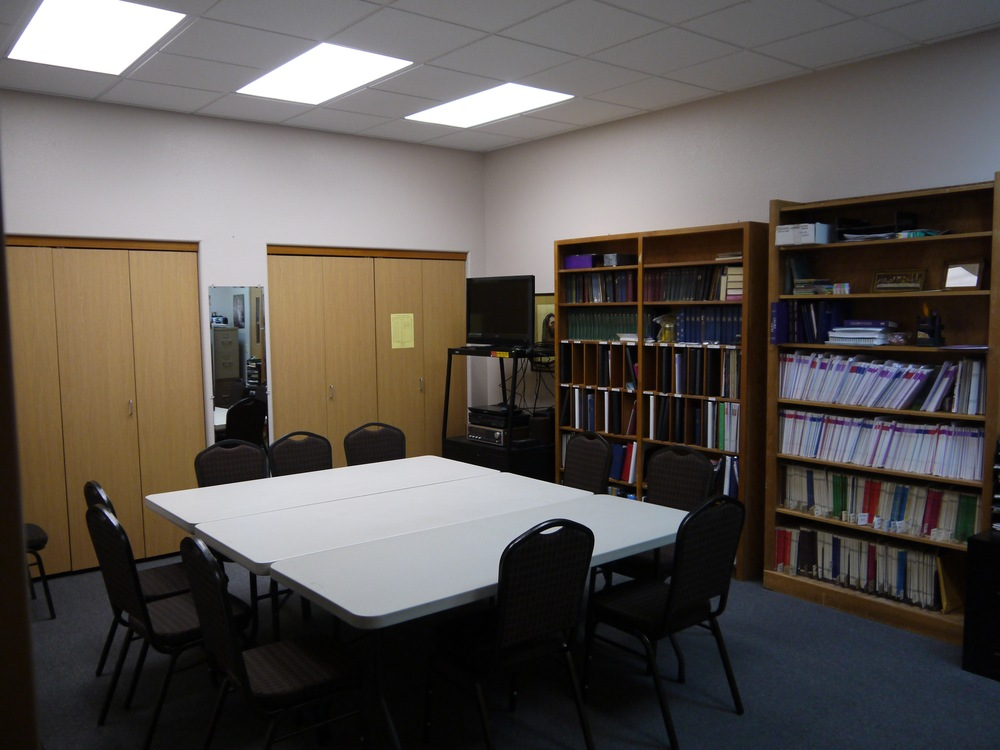 Our church Library is the perfect location for your next meeting or small gathering. (TV/DVD Available)